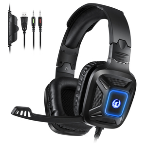 A5 Gaming Headset Comfortable Soft over Ear Pads with RGB Light